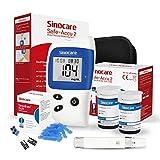 sinocare Safe Accu2 Blutzuckermessgerät, Diabetes-Set mit Blutzuckerteststreifen x 50, Schmerzfrei...