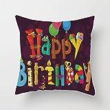 N\A Alles Gute zum Geburtstag Kerze Ballon EIS Geschenk Party werfen Kissenbezug benutzerdefinierte...