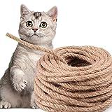Hoiny Sisalseil, Natural Sisal Seil für Kratzbaum, Mehrzweckseil Sisal, Spielzeug für Katzen,...
