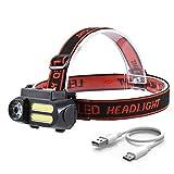 GPWDSN LED Scheinwerfer Taschenlampe, Taschenlampe Taschenlampe HeadLampHead Torch Mini LED...