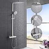 Hochwertiges Duschsystem mit Thermostat, WOOHSE Regendusche Duscharmatur Duschkopf aus Edelstahl,...