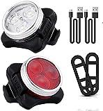Bestlsy LED Fahrradlicht Set,LED Lampe Set, USB Wiederaufladbar Fahrradbeleuchtung Set mit IPX5...