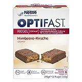 OPTIFAST KONZEPT Diät Riegel Himbeer Kirsche zum Abnehmen | eiweißreicher Mahlzeitenersatz mit...
