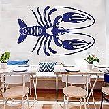 Hummer Wandtattoos Meeresfrüchte Restaurant Krabben Fisch Thunfisch Tintenfisch Garnelen Markt...