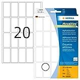 HERMA 10609 Vielzweck-Etiketten ablsbar (19 x 40 mm, 32 Blatt, Papier, matt) selbstklebend,...