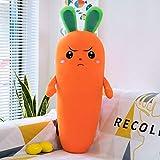 Plüsch Interaktives Spielzeug Karottenkissen Plüsch Spielzeugbett Superweiche süße Puppe 50cm...