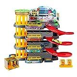 AIOXY Parkhaus Spielzeug,Kinderspielzeug-Set Parkgarage,Garage Und Parkhaus Mit 4 Ebenen Und...