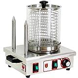 Beeketal 'BHG06c' Profi Gastro Hot Dog Maker mit 2 Heizspieen und 170 mm Korbdurchmesser, Edelstahl...