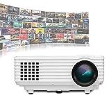 Jacksking RD-805A Miniatur-LED-Projektor Smart-Projektor 1080P Full-HD-Mini-Beamer-Videoprojektor...