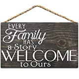 Free Brand Holzschild 'Every Family Has A Story Welcome to Ours' rustikale Heimdekoration...
