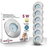 LED Badeinbaustrahler ultra flach inkl. 6 x 5W LED Modul 230V IP44 LED Einbauleuchte Bad Deckenspot...