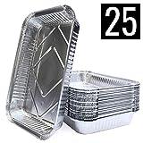 Mamatura 25 XL-Aluminium-Tropfschalen | 25 Aluschalen | 32 x 22 cm, 2100 ml | gro, rechteckig,...