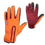 Aubess Fahrradhandschuhe, Winddicht, Anti-Rutsch, Warmer Kälteschutz, Vollfinger-Handschuhe,...