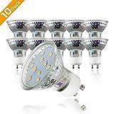 B.K.Licht 10er Set 3W LED Lampen  Energiesparende Leuchtmittel mit GU10 Fassung fr Innenrume...