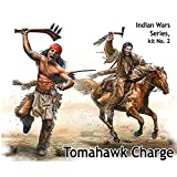 Master Box Ltd. MB35192 Figuren Tomahawk Charge.Indian Wars Series, kit No.2
