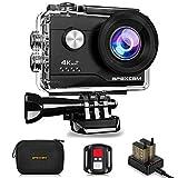 Apexcam 4K Action cam 20MP WiFi Sports Kamera Ultra HD Unterwasserkamera 40m 170  Weitwinkel 2.4G...