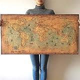 Kuerli Nautical Ocean Sea World Karte Retro Kunstdruckpapier Malerei Home Decor Poster Aufkleber...