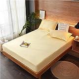 unknow Baumwolle Sheets 90x200 cm, Zurck Sheets Mit Beige Spannbettlaken 100% Baumwolle...