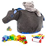 Great Useful Stuff G.U.S Spielzeugtruhe Arche Noah, Polyester-Mischgewebe, grau, Hippo