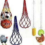 5-teiliges Hühnerfutter-Set, 3 x Hühner-Gemüse-Beutel und 2 x hängende Hühner-Futterstation...