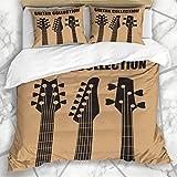 226 MILAIDI Bettbezug-Sets Lektionen Hals Gitarren Musik Klassik Retro Electric Blues Bass...