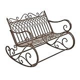 [en.casa] Schaukelbank Greenough 85x113x95cm Gartenschaukel für 2 Personen im Landhausstil Metall...