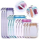 HIQE-FL 32Pcs Mason Jar Zipper Bags,Lebensmittelbeutel Einmachglas,Mason Bag,Lebensmittel...