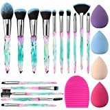 Make Up Pinsel Set Glamour Gaze 15 Stück Kristallgriffe Make-up Pinsel Sets Lidschatten Augenbrauen...
