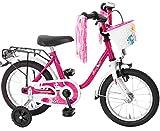 Bachtenkirch-Interbike GmbH Kinderfahrrad 14 Zoll Fahrrad für Kinder Mädchen Kinderrad...