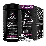 VIMAVETIA HAAR & HAUT VITAL KOMPLEX: Haar-Vitamine, hochdosiert, vegan, AnaGain, Omega-3,...
