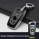 XTQDM Autoschlüsselschale,Für 3 Tasten Kunststoff Leuchtendes Auto Remote Key Fob Shell Shell...