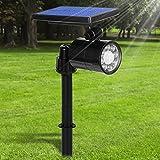 Solarleuchte Garten für Außen, Solarlampe Super Hell 8LED mit Bewegungsmelder, 4 Modi IP65...