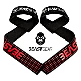 Beast Gear Profi Zughilfen für Fitness & Bodybuilding – Professionelle, Gepolsterte Lifting...