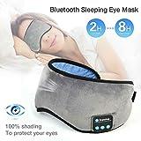 WBLin Schlafaugenmaske mit kabellosen Bluetooth-Kopfhörern Schlafmaske aus weicher Baumwolle...