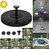 DCSHOP Solar Teichpumpe, 1,5W 180L/ h Solar Springbrunnen Wasserpumpe Solar Springbrunnen Solar...