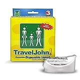 TravelJohn Einweg-Urinalbeutel, 6 x 3 Packungen (18 Urinalen)