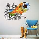 Beyond 3D Wandsticker Fussball Wandtattoo Wandbilder Aufkleber selbstklebend