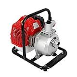 Wangkangyi 2-Takt 43cc Gartenpumpe Benzin Wasserpumpe Bewässerung 8000L/h Benzinwasserpumpe Brunnen...