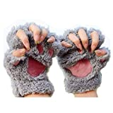 MAXGOODS 1 Paar Nette Fingerlose Pfote Plsch Handschuhe, Katze Br Paw, aus Knstlich Faux Pelz fr...