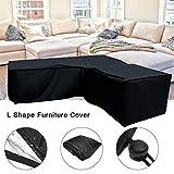 Ksruee 2pcs L Form Abdeckung für Gartenmöbel, Sofa Überwürfe elastische Stretch Sofa Bezug,...