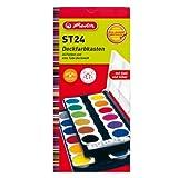 Herlitz 10199933 Schulmalfarben bzw. Deckfarbkasten, 24 Farben inklusive Deckwei