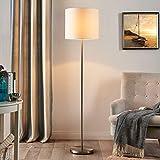 Lindby Stehlampe 'Parsa' (Für Kinder, Junges Wohnen) in Weiß aus Textil u.a. für Schlafzimmer (1...