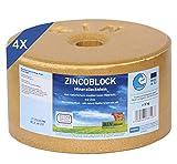 imima ZINCOBLOCK 4er Set Mineralleckstein, 4X 3kg
