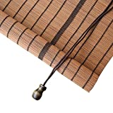 LY88 Bambusrollo für Vorhänge, 50% Verdunklung, halbsichtbare Fensterrollos, 120×180cm