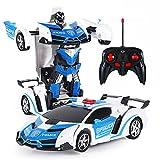 Auto-Roboter, 2 In 1 Transformatoren RC Roboter Auto Fernbedienung Auto Spielzeug, Transformieren...
