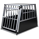 Hundetransportbox Alu Gre xxl von Jalano schwarz / silber - Gitterbox Aluminium Auto Transportbox...
