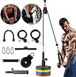 Kacsoo 16-teiliges Fitness-Seilzug-Kabelsystem, Heimtrainings-Fitnessgeräte,...