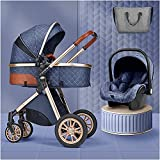 3 in 1 Kinderwagen Tragbare Infant Babykutsche Reisesystem, Baby-Kinderwagen-Kinderwagen für 0-36...