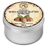 Shea Butter Kaltgepresst und Unraffiniert 400g - 100% Rein und Natürlich Karité Body Butter -...