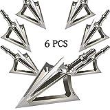 JIANZD 6 er 100 Grains Pfeilspitzen Jagdspitzen Armbrust Bogen Arrow Broadheads mit 3 Klingen aus...
